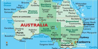 australia en un mapa